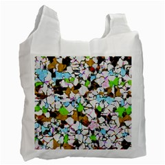 Brush Strokes On A White Background                                                   Recycle Bag by LalyLauraFLM
