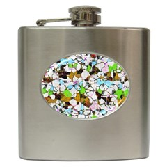 Brush Strokes On A White Background                                                   			hip Flask (6 Oz) by LalyLauraFLM