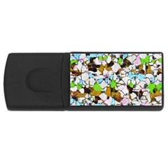 Brush Strokes On A White Background                                                   			usb Flash Drive Rectangular (4 Gb) by LalyLauraFLM