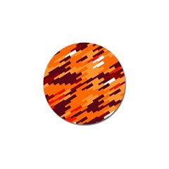 Brown Orange Shapes                                                    			golf Ball Marker (4 Pack) by LalyLauraFLM