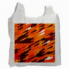 Brown Orange Shapes                                                    			recycle Bag (one Side) by LalyLauraFLM