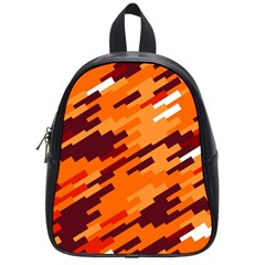 Brown Orange Shapes                                                    			school Bag (small) by LalyLauraFLM