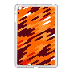 Brown Orange Shapes                                                    			apple Ipad Mini Case (white) by LalyLauraFLM