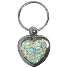 Fading Shapes Texture                                                    			key Chain (heart) by LalyLauraFLM