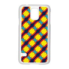 Blue X Chains                                                     			samsung Galaxy S5 Case (white) by LalyLauraFLM