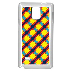 Blue X Chains                                                     			samsung Galaxy Note 4 Case (white) by LalyLauraFLM