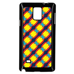Blue X Chains                                                     			samsung Galaxy Note 4 Case (black) by LalyLauraFLM