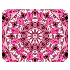 Twirling Pink, Abstract Candy Lace Jewels Mandala  Double Sided Flano Blanket (medium)