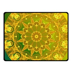 Yellow Green Abstract Wheel Of Fire Fleece Blanket (small) by DianeClancy