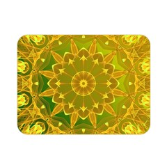 Yellow Green Abstract Wheel Of Fire Double Sided Flano Blanket (mini)  by DianeClancy