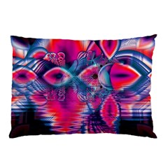Cosmic Heart Of Fire, Abstract Crystal Palace Pillow Case (two Sides) by DianeClancy