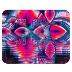 Cosmic Heart Of Fire, Abstract Crystal Palace Double Sided Flano Blanket (medium)  by DianeClancy