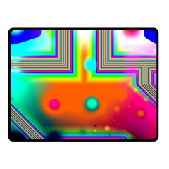 Crossroads Of Awakening, Abstract Rainbow Doorway  Fleece Blanket (small) by DianeClancy