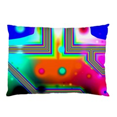 Crossroads Of Awakening, Abstract Rainbow Doorway  Pillow Case (two Sides) by DianeClancy