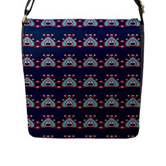 Hearts Pattern                                                      			flap Closure Messenger Bag (l) by LalyLauraFLM