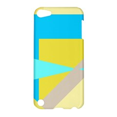 Blue Yellow Shapes                                                        			apple Ipod Touch 5 Hardshell Case by LalyLauraFLM