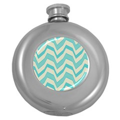 Blue Waves Pattern                                                         			hip Flask (5 Oz) by LalyLauraFLM