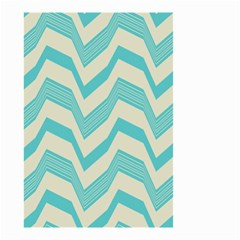 Blue Waves Pattern                                                         Small Garden Flag by LalyLauraFLM