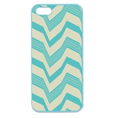 Blue Waves Pattern                                                         			apple Seamless Iphone 5 Case (color) by LalyLauraFLM