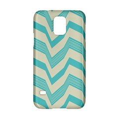 Blue Waves Pattern                                                         			samsung Galaxy S5 Hardshell Case by LalyLauraFLM