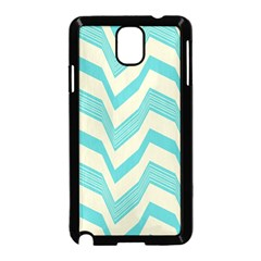 Blue Waves Pattern                                                         			samsung Galaxy Note 3 Neo Hardshell Case (black) by LalyLauraFLM