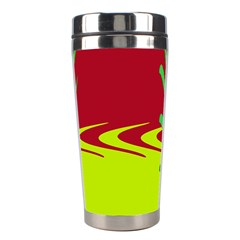 Wavy Shapes                                                         Stainless Steel Travel Tumbler by LalyLauraFLM