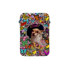 Chi Chi In Butterflies, Chihuahua Dog In Cute Hat Apple Ipad Mini Protective Soft Cases by DianeClancy