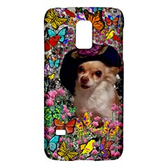 Chi Chi In Butterflies, Chihuahua Dog In Cute Hat Galaxy S5 Mini by DianeClancy