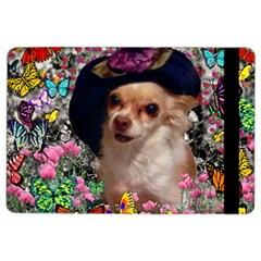 Chi Chi In Butterflies, Chihuahua Dog In Cute Hat Ipad Air 2 Flip by DianeClancy