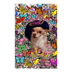 Chi Chi In Butterflies, Chihuahua Dog In Cute Hat Shower Curtain 48  X 72  (small)  by DianeClancy