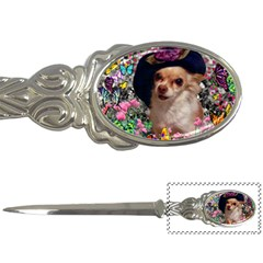 Chi Chi In Butterflies, Chihuahua Dog In Cute Hat Letter Openers by DianeClancy