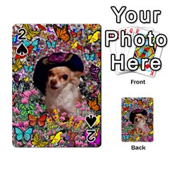 Chi Chi In Butterflies, Chihuahua Dog In Cute Hat Playing Cards 54 Designs  by DianeClancy
