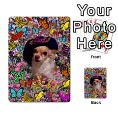 Chi Chi In Butterflies, Chihuahua Dog In Cute Hat Multi Purpose Cards (rectangle)  by DianeClancy
