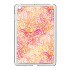 Sunny Floral Watercolor Apple Ipad Mini Case (white) by KirstenStar