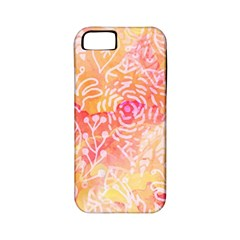 Sunny Floral Watercolor Apple Iphone 5 Classic Hardshell Case (pc+silicone) by KirstenStar