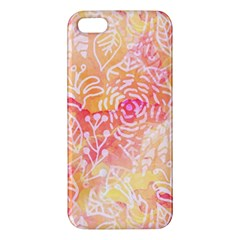 Sunny Floral Watercolor Apple Iphone 5 Premium Hardshell Case by KirstenStar