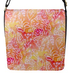 Sunny Floral Watercolor Flap Messenger Bag (s) by KirstenStar