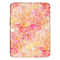 Sunny Floral Watercolor Samsung Galaxy Tab 3 (10 1 ) P5200 Hardshell Case  by KirstenStar
