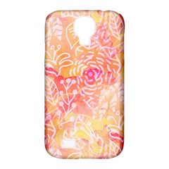 Sunny Floral Watercolor Samsung Galaxy S4 Classic Hardshell Case (pc+silicone) by KirstenStar