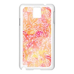 Sunny Floral Watercolor Samsung Galaxy Note 3 N9005 Case (white) by KirstenStar