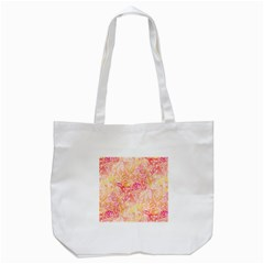 Sunny Floral Watercolor Tote Bag (white) by KirstenStar