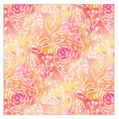 Sunny Floral Watercolor Large Satin Scarf (square) by KirstenStar