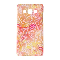 Sunny Floral Watercolor Samsung Galaxy A5 Hardshell Case  by KirstenStar