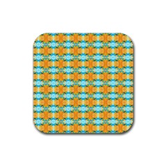 Dragonflies Summer Pattern Rubber Coaster (square)  by Costasonlineshop