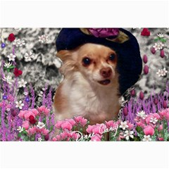 Chi Chi In Flowers, Chihuahua Puppy In Cute Hat Collage Prints by DianeClancy