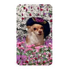 Chi Chi In Flowers, Chihuahua Puppy In Cute Hat Memory Card Reader by DianeClancy