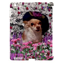 Chi Chi In Flowers, Chihuahua Puppy In Cute Hat Apple Ipad 3/4 Hardshell Case (compatible With Smart Cover) by DianeClancy
