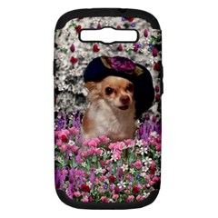 Chi Chi In Flowers, Chihuahua Puppy In Cute Hat Samsung Galaxy S Iii Hardshell Case (pc+silicone) by DianeClancy