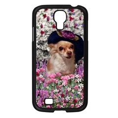 Chi Chi In Flowers, Chihuahua Puppy In Cute Hat Samsung Galaxy S4 I9500/ I9505 Case (black) by DianeClancy
