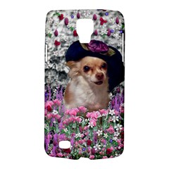 Chi Chi In Flowers, Chihuahua Puppy In Cute Hat Galaxy S4 Active by DianeClancy